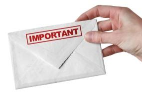 Important letter