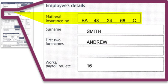 National insurance number check